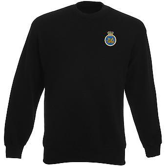 HMS vigilante bordado logotipo - camisola real da Marinha submarino oficial MOD Heavyweight