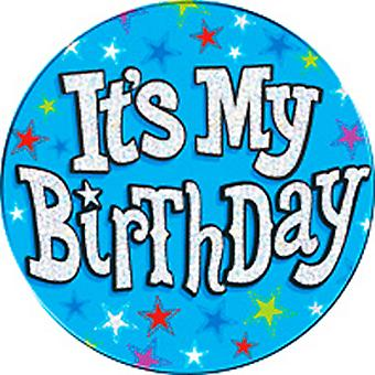 Expression Factory Its My Birthday Blue Giant Badge
