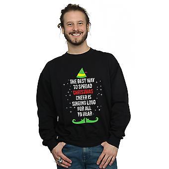 Elf Men's Christmas Cheer Text Sweatshirt