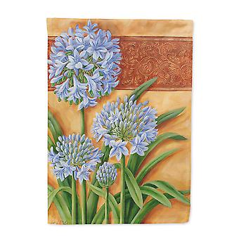 Agapanthus by Judith Yates Flag Canvas House Size