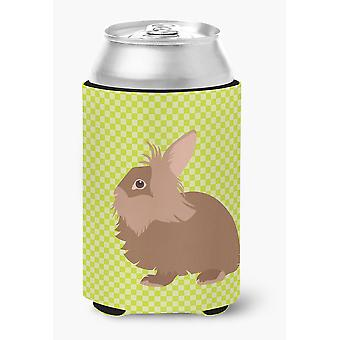 Carolines skatter BB7786CC Lionhead kanin grønn kan eller flaske Hugger