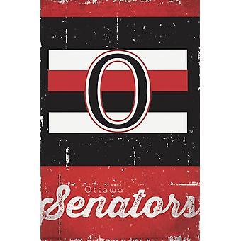 Ottawa Senators - Retro Logo 13 Poster Poster Print