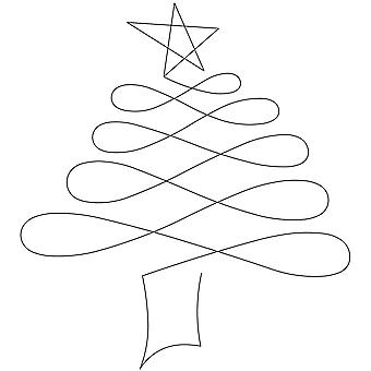 Quilt Stencils By Patricia Ritter-Christmas Tree 7