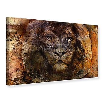 Lærred Print portræt af en løve