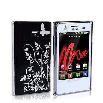Yousave Accessories LG Optimus L3 Butterfly IMD Hard Case - Black