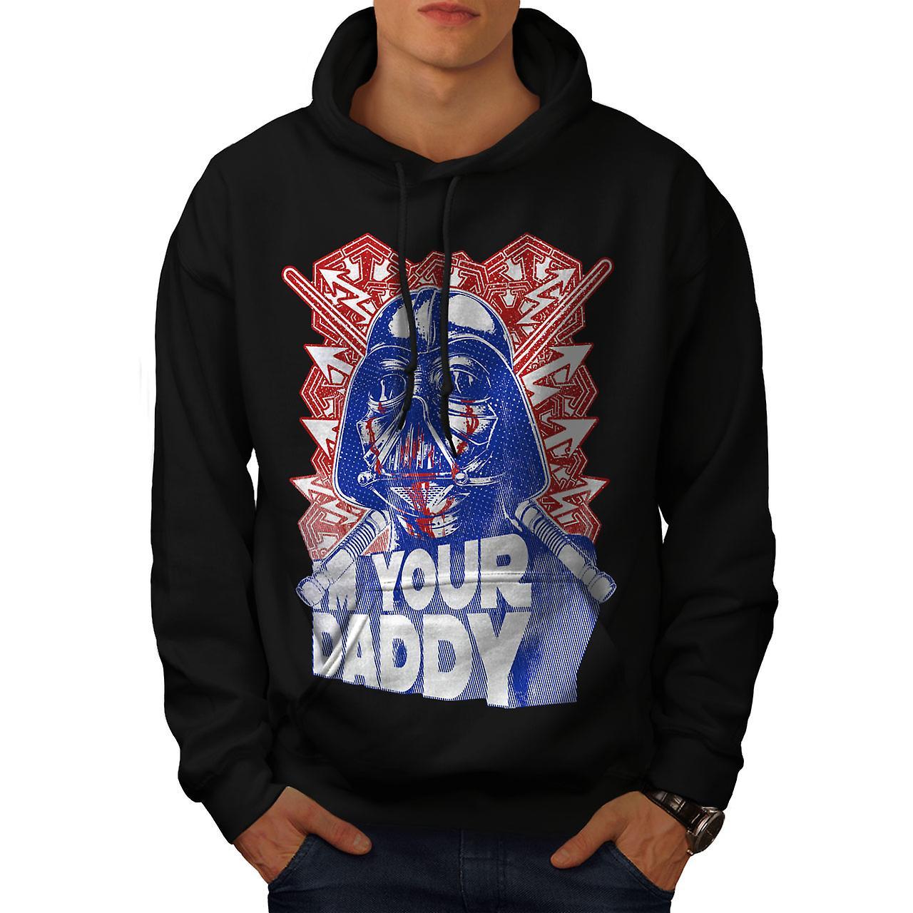 I'm Your Daddy War Funny Men Black Hoodie | Wellcoda