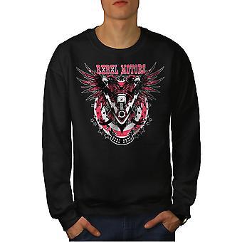 Rebel Motors Club Biker Männer BlackSweatshirt   Wellcoda