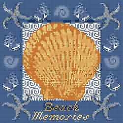 Beach Memories 2 Needlepoint Canvas