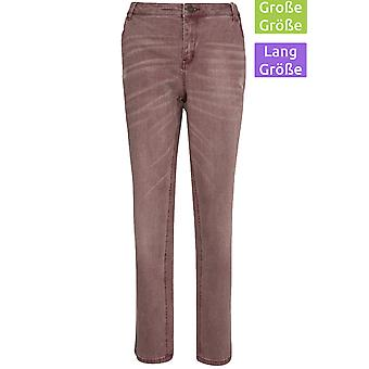 sheego pants women's jeans in plus size long size violet
