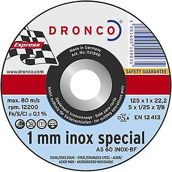 10x cutting discs AS60T INOX Dronco 6900945-100 Diameter 125 mm