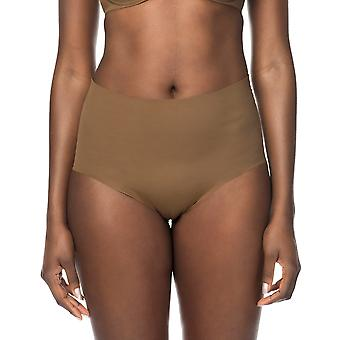 Nubian Skin NC03 Women's Naked Berry Brown Solid Colour Knickers Panty Highwaist Brief