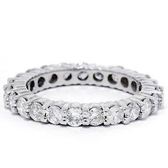 1 1/2ct Diamond Eternity Ring 14K White Gold