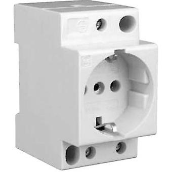 DIN rail mains socket w/o cover