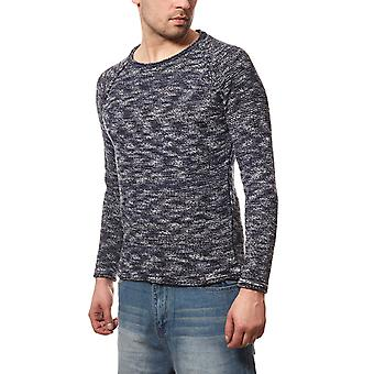 CARISMA rope mens knitted sweater blue slim fit