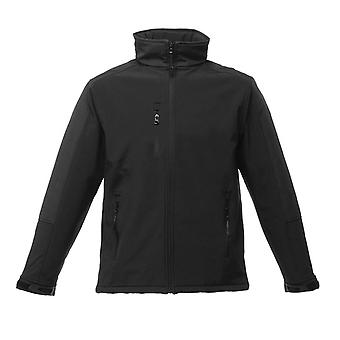 Regatta Mens Hydroforce 3 Layer Softshell Waterproof Jacket Black/Black
