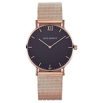Paul Hewitt Sailor Line Quartz Watch - Rose Gold/Blue