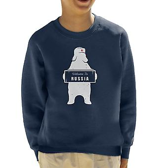 Welcome To Russia Bear Revolution Star Kid's Sweatshirt