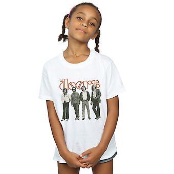 La banda de chicas puertas camiseta de pie