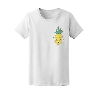 Happy Tropical Hipster Pineapple Tee Women's -Image by Shutterstock