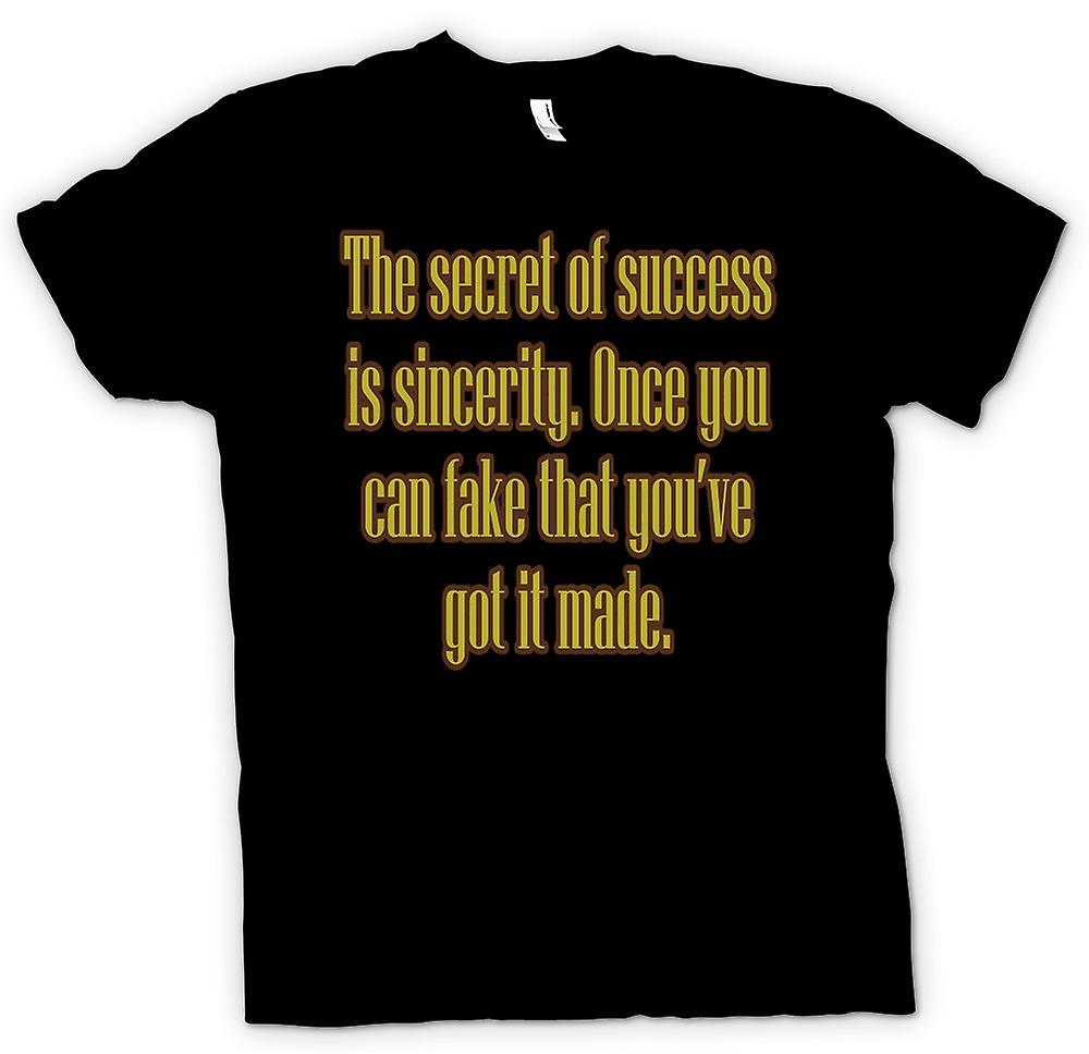 Mens T-shirt - The Secret Of Success - Quote