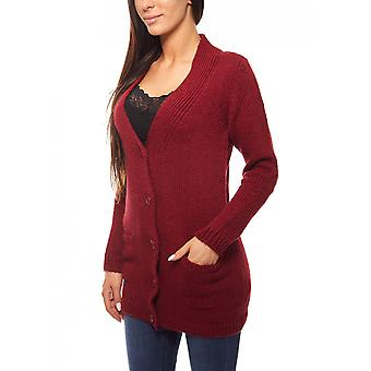 Wool Cardigan in knit quality Bordeaux CLASS INTERNATIONAL
