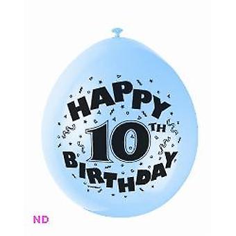 "Balloons 'HAPPY 10th BIRTHDAY' 9"" Latex Balloons (10)"