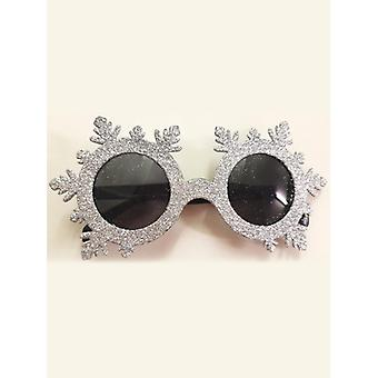 Glittered Snowflake Glasses