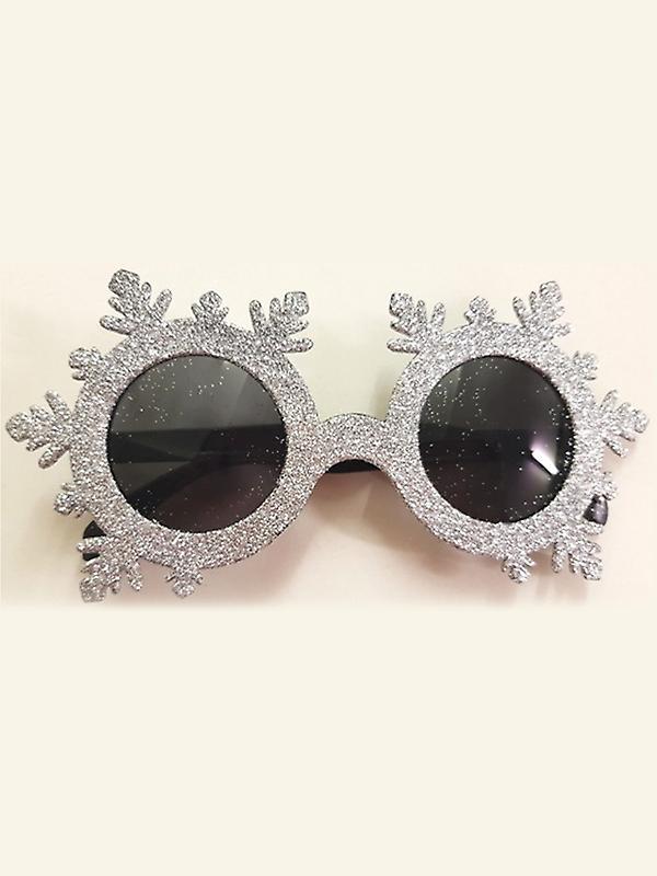 Glittered Snowflake Glasses