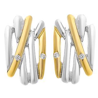 Linee Orphelia argento 925 orecchino oro ZO-6038/1