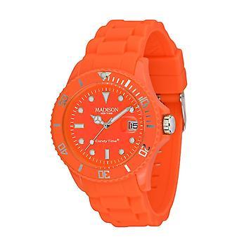 Candy time by Madison N.Y.. watch unisex U4503-51-1 neon orange