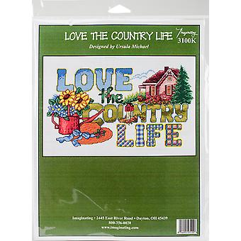 Love The Country Life Counted Cross Stitch Kit-13.5