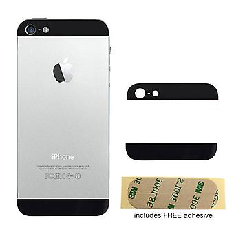 Schwarze Rückseite oben und unten Glas fügt für iPhone 5