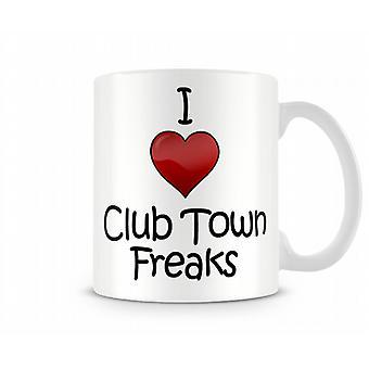 J'aime Freaks Ville Club Tasse imprimés