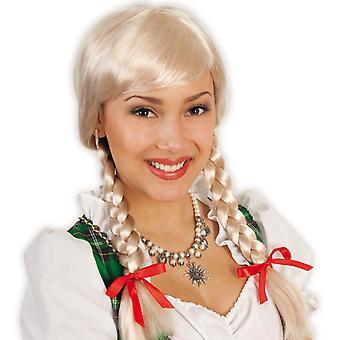 Wig Franzi schoolgirl pigtails blonde