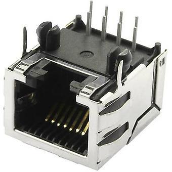 Modulare angebrachte Buchse geschirmt Cat 5 mit Schild Registerkarten Socket, horizontale Halterung Anzahl der Pins: 10 P8C SS70100-011F Nickel-überzogenen, Metall-BEL Stewart Stecker