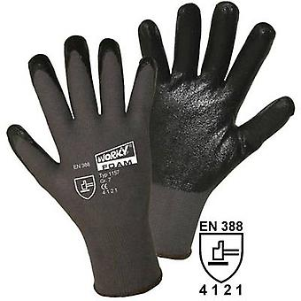 Nylon Protective glove Size (gloves): 10, XL EN 388:2016 CAT II L+D worky FOAM Nylon-Nitril 1157 1 pair