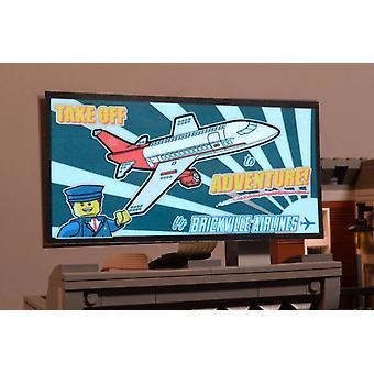 Brickstuff Brickville Airlines Animated Billboard - KIT23-BA