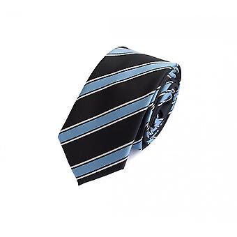 Tie cravate cravate cravate noir 6cm bleu rayé blanc Fabio Farini