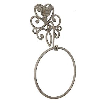 Clayre & EEF Guest Towel holder towel ring shabby cottage metal nature 27 x 7 x 31 cm