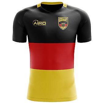 2018-2019 ألمانيا العلم مفهوم كرة القدم قميص (الأطفال)