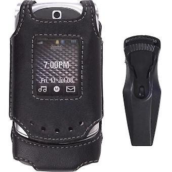 Wireless Solution Swivel Leather Case for Motorola VE20 Vegas (Black)