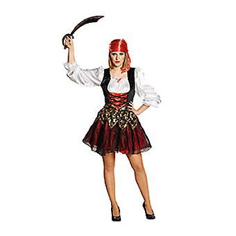 Pirate's bruid vrouw kostuum piraat piraat piraat vet donderdag carnaval