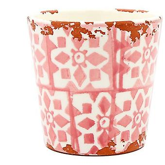 Eura Eura ceramic pot 14 x 12cm coral (Decoration , Plants and pots)