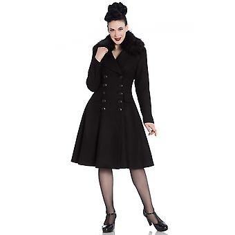 Hell Bunny Black Milan Coat XS