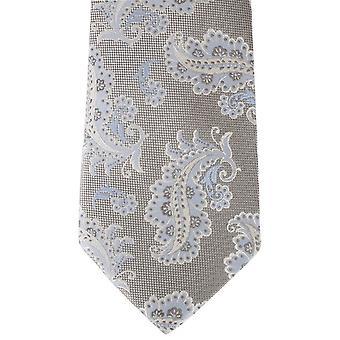 David Van Hagen Paisley corbata - plata