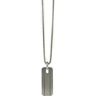 Ti2 Titanium Stitched Pattern Pendant - Silver