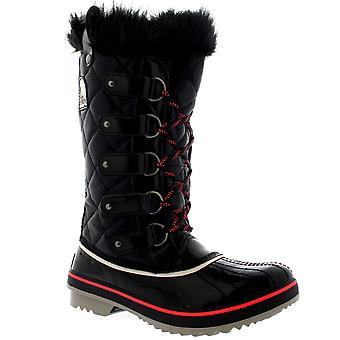 سوريل المرأة الشتاء توفينو الثلج ماء المطر منتصف العجل الفراء اصطف أحذية
