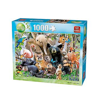 King Puzzle Animal World Jungle Party 1000stukjes