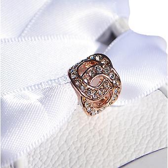 Rose Gold Interlocking Circle Shoe Charm