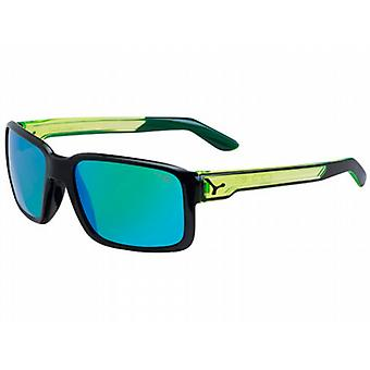 Cebe Dude Sunglasses (Shiny Black/Crystal Yellow Frame 1500 Grey FM Green Lens)
